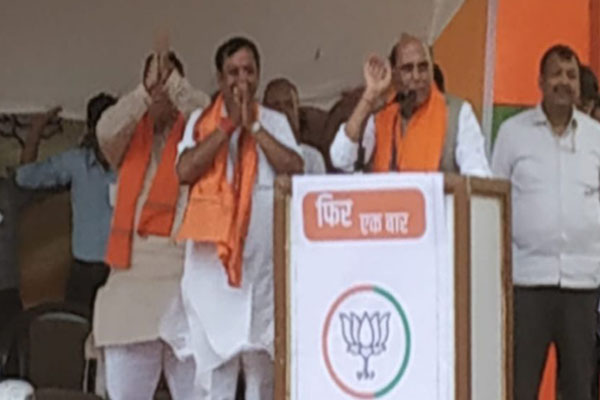 Rajnath Singh campaigned in favor of BJP candidate in Mahasamund and Durg